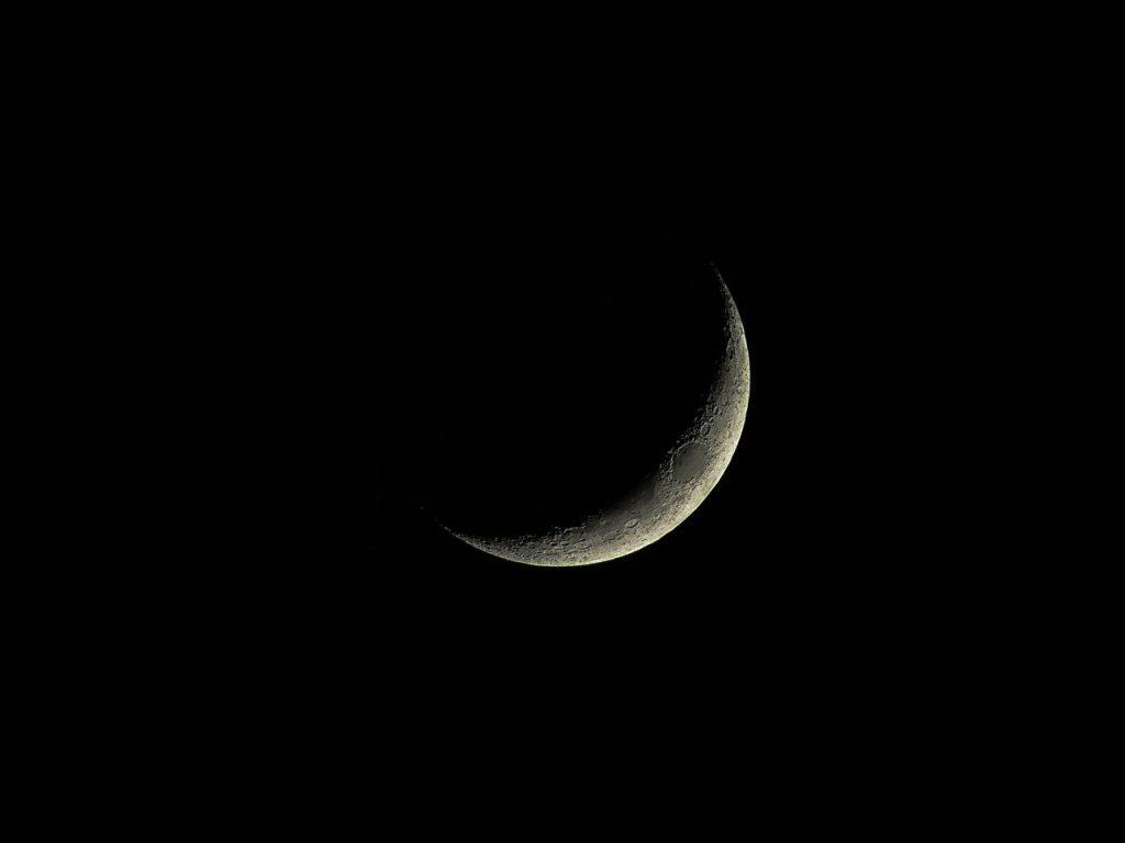 Lua crescente.