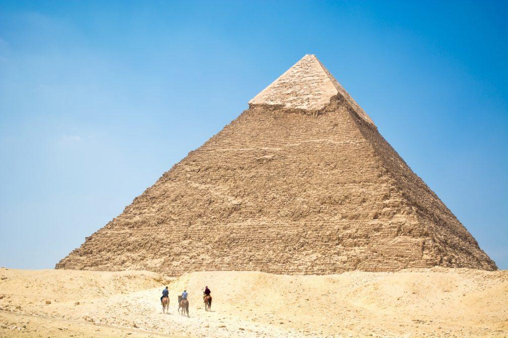 Pirâmide no Egito.