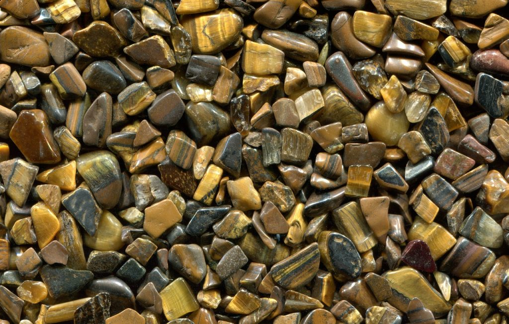 Pedras de Olho de Tigre.