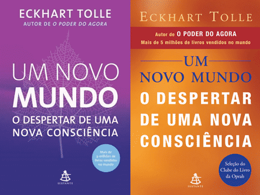 """Capa do livro """"Um novo mundo - O Despertar de Uma Nova Consciência"""""""