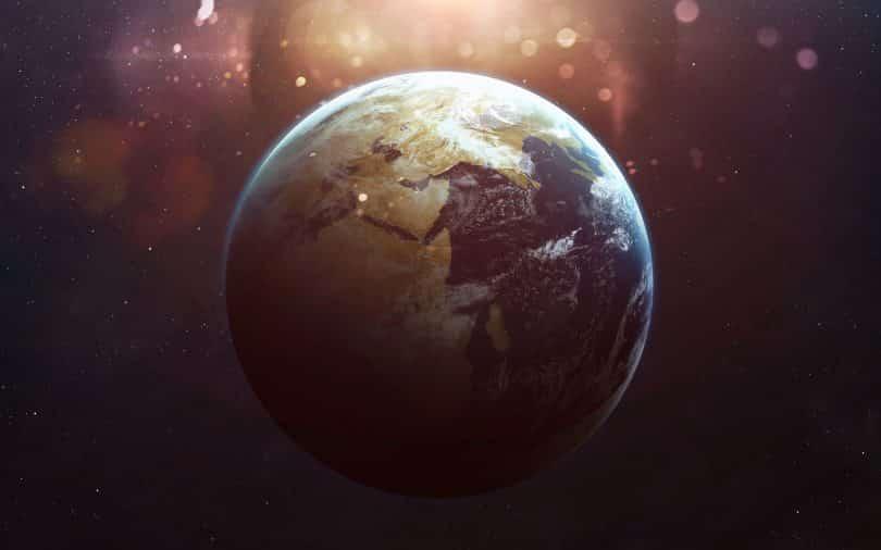 Vista do planeta Terra do Espaço.