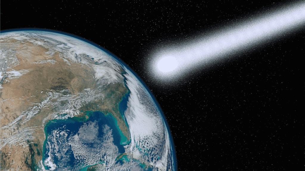 Foto de um meteoro chegando na Terra