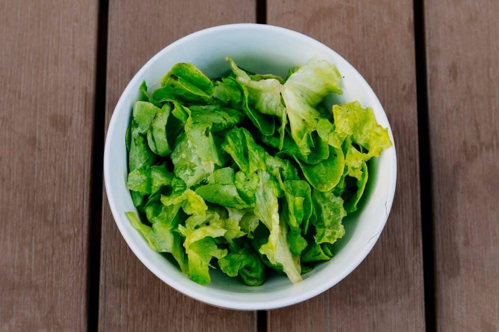 Prato com salada verde
