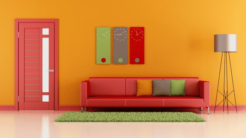 Ambiente de casa colorido