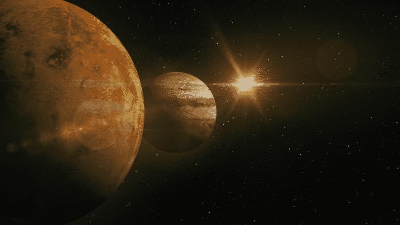 Vênus e Júpiter alinhados