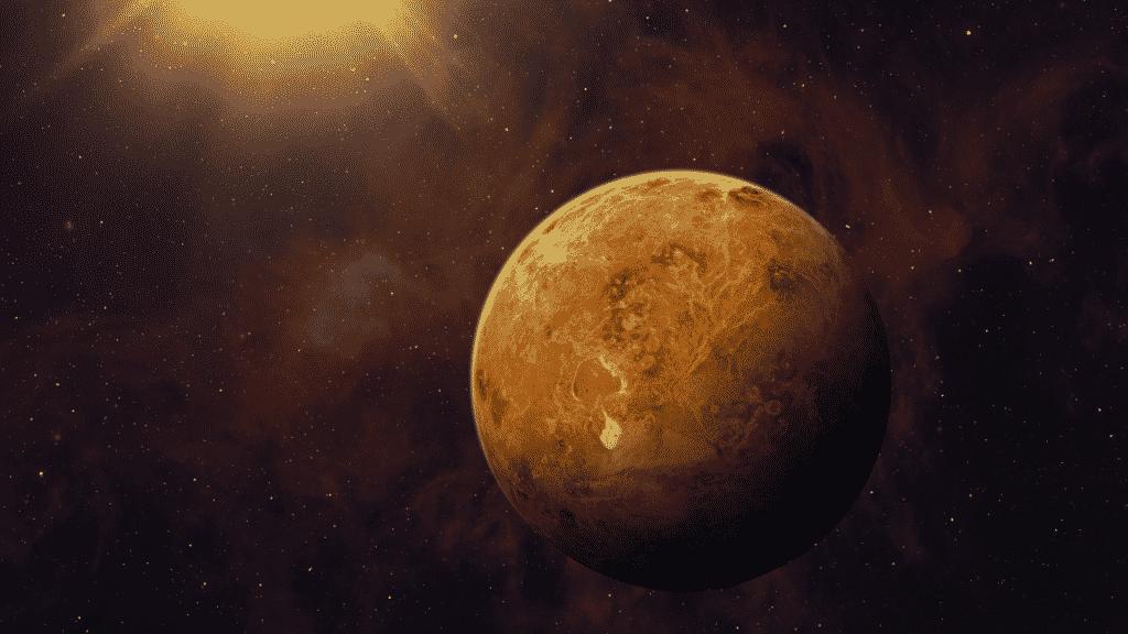 Planeta Vênus perto do sol