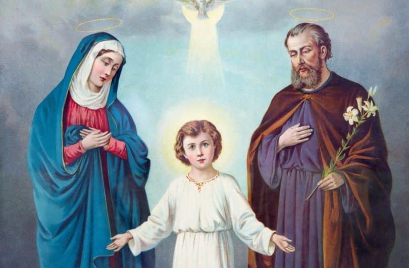 Imagem da santa família.
