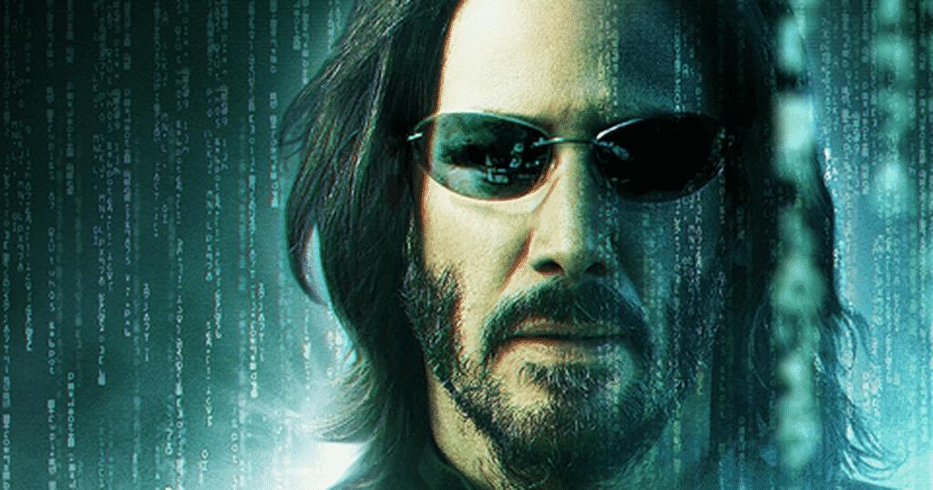 Keanu Reeves como Thomas Anderson na capa de divulgação do Matrix 4