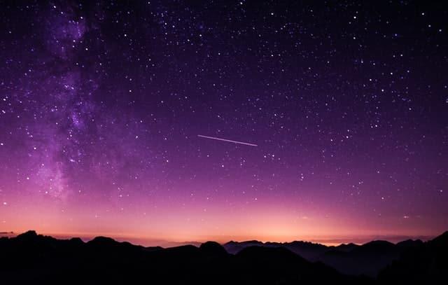Céu estrelado.