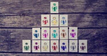 Ilustração de hierarquia.