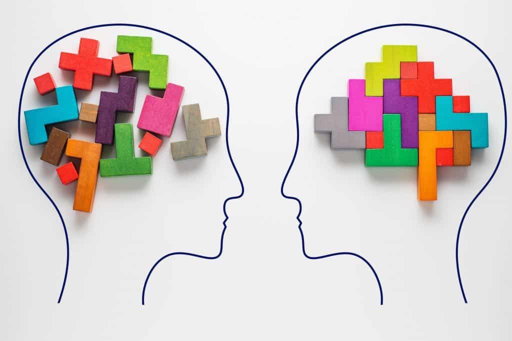 O conceito de pensamento racional de duas pessoas.