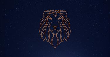 Céu estrelado com signo de Leão