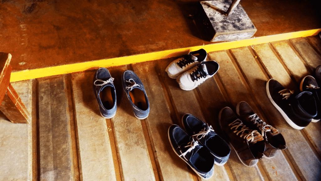 Sapatos para fora de casa