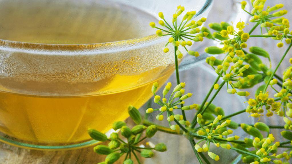 Imagem de chá de erva-doce