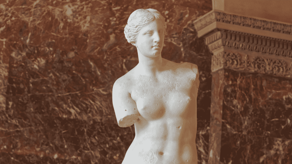 Imagem da estátua da deusa Afrodite
