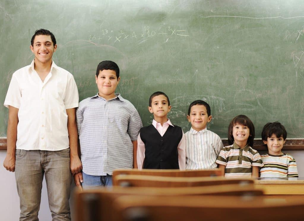 Etapas das gerações dos alunos da escola, representando desenvolvimento