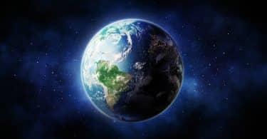 Vista do planeta Terra.