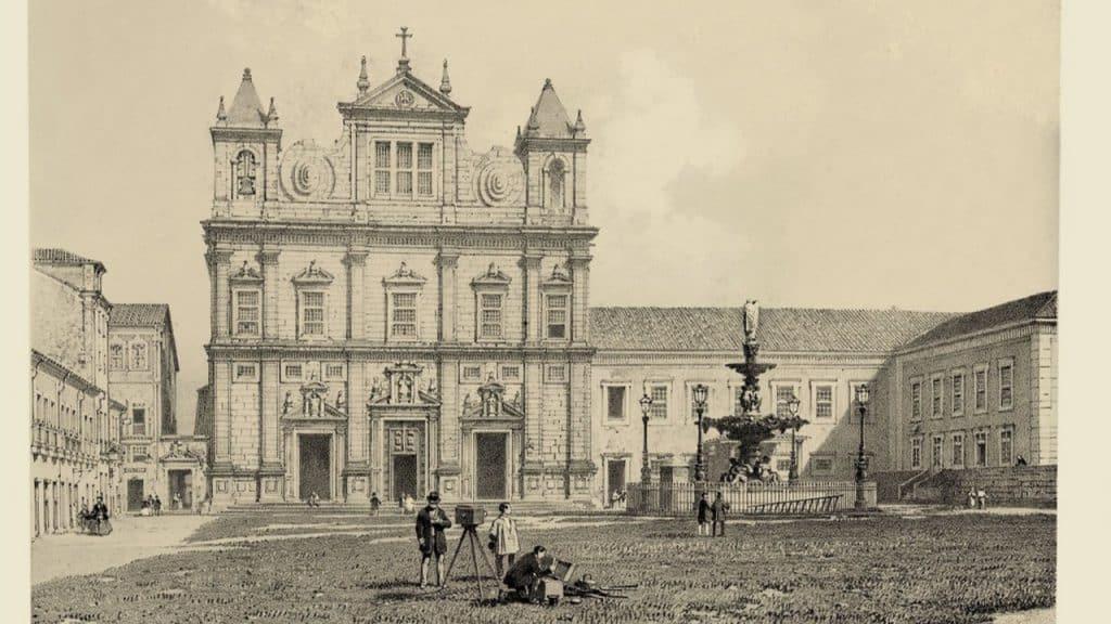 Fotografia de uma escola jesuíta na Bahia