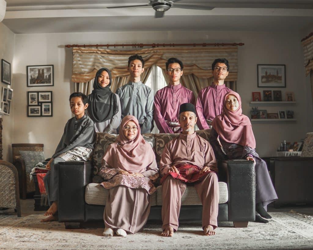 Família asiática.