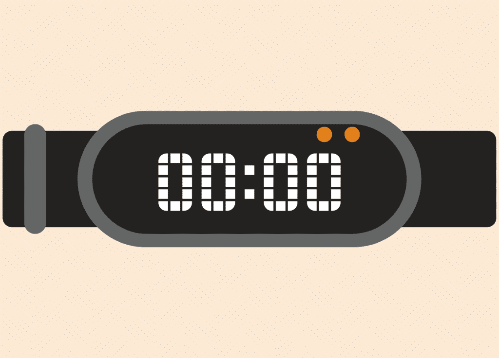 Ilustração de relógio com o número 0.