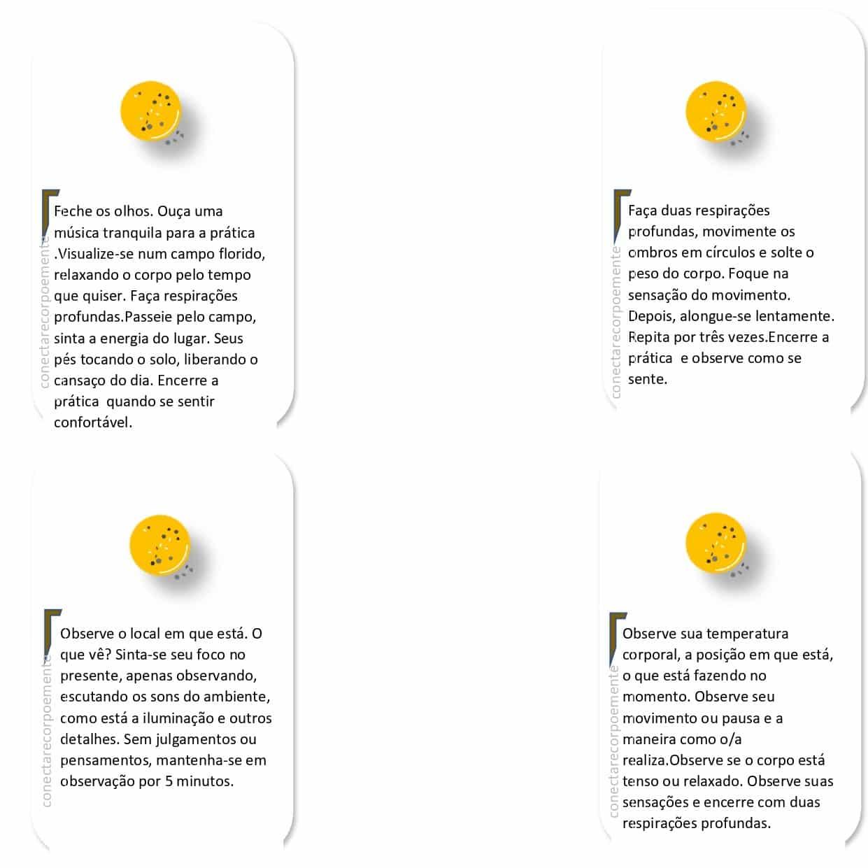 Cartas do Mindfulness.