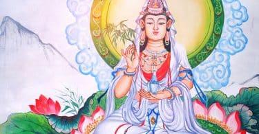 Desenho da deusa Kuan Yin.
