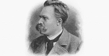 Ilustração de Nietzche.