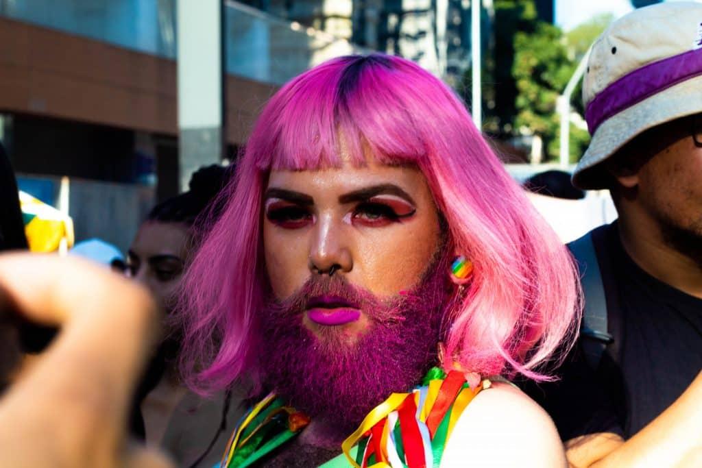 Registro feito em uma parada LGBT