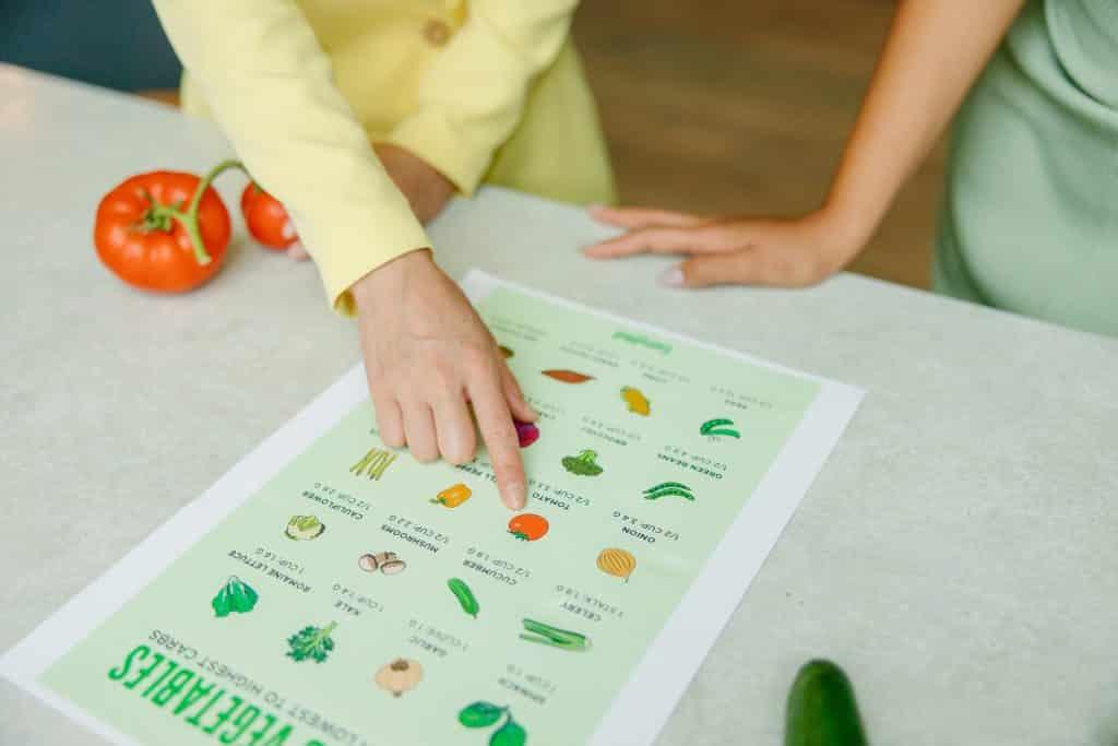 Cardápio de legumes