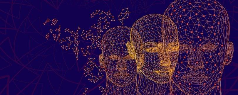 ilustração de três cabeças